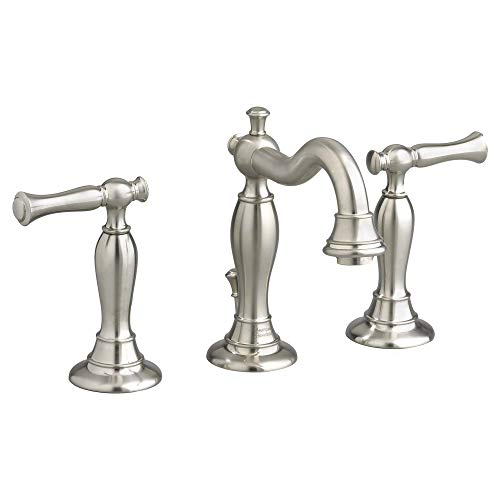- American Standard 7440851.295 Quentin 2-Handle 8 Inch Widespread Bathroom Faucet, 6.63 in wide x 8.00 in tall x 7 in deep, Satin Nickel