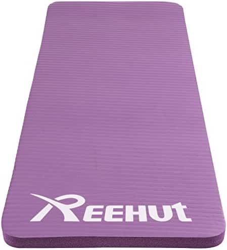 Reehut Yoga Knee and Elbow Pad 1/2-inch (15mm) Thick Mini Mat Cushions pressure points for Fitness Yoga Exercise Workout w/ Strap