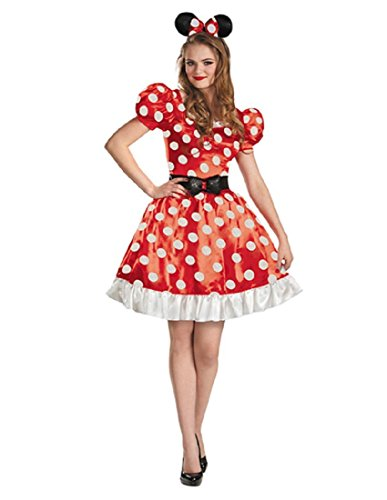 (Disguise Women's Red Minnie Mouse Classic Costume, Red/Black/White,)