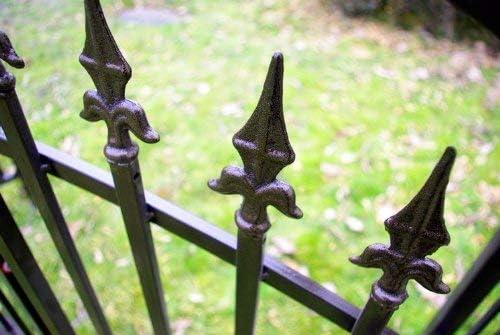 Nexos Rose pérgola Enrejado – Arco para Rosas Flores jardín Terraza con Puerta Puerta de Metal Martillado 216 cm Color Marrón Bronce