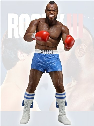 Rocky Balboa 7 Action Figure Series 3 Clubber Lang Blue Trunks by Rocky