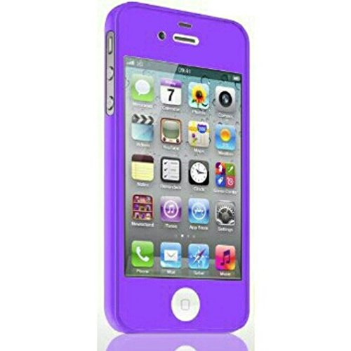 Price comparison product image Mercury TPU Case and Color Screen Protector Combo for Iphone 4 / 4s Purple