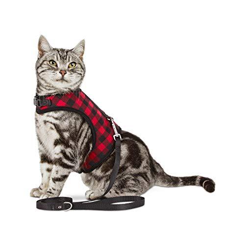 (Bond & Co. Buffalo-Check Cat Harness and Leash Set, Standard)