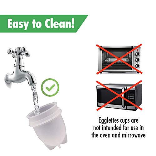Egglettes Egg Cooker Hard & Soft Maker, Use Oil, Non Stick Silicone, Poacher, Boiled, Steamer AS SEEN ON TV, 6 pack by Deja Vu & Uk (Image #3)