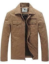Men's Canvas Cotton Military Lapel Jacket