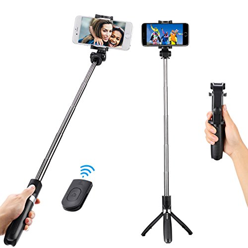 DOKRO Selfie Stick Tripod Stand Holder Extendable with Bluetooth Remote for iPhone x 8 6 7 plus Android Samsung Galaxy S7 S8 Blackberry Huawei