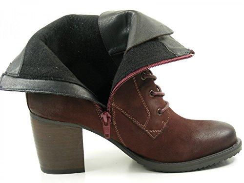 SPM 20077170 Bullet Lace Boot botas para mujer de cuero Rot