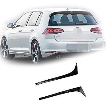 Para Volkswagen VW Golf 7 MK7 VII 2013 - 2016 2017 R-Line estilo negro trasero alerón ala 13 14 15 16 17: Amazon.es: Coche y moto