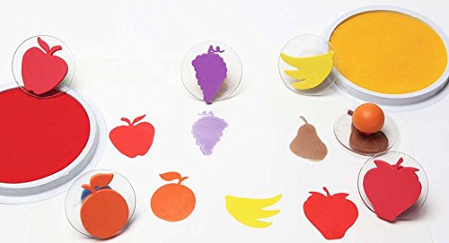 Set of 12 Beckers School Supplies Ready2Learn Giant Fruit /& Vegetable Stampers,