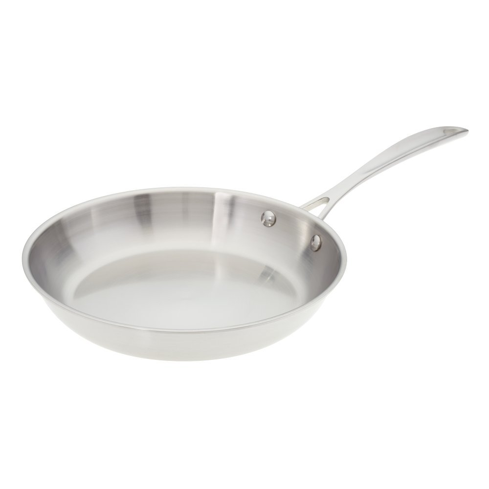 American Kitchen Cookware 8-inch Stainless Steel Skillet; Tri-Ply; Manufactured in USA
