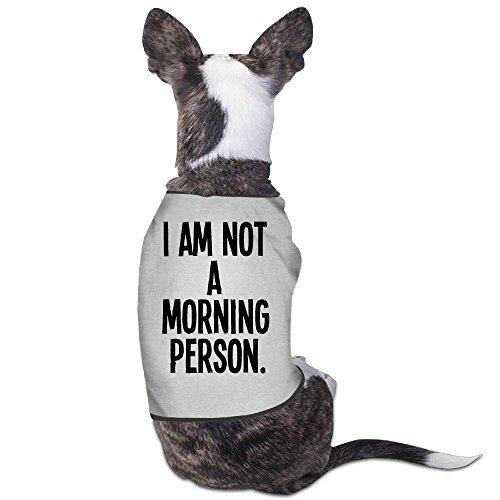 (LeeRa I Am Not A Morning Person Dog Clothes)