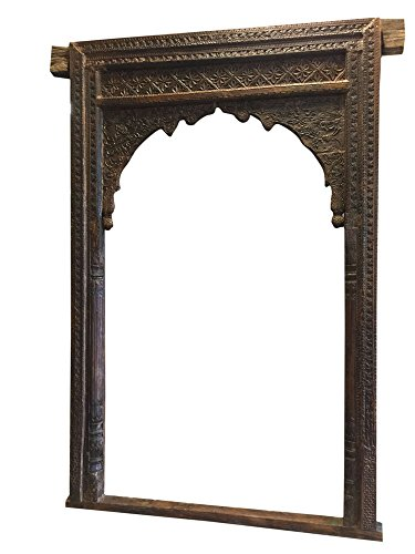 Antique Arch Headboard Welcome Gate Arch Hand Carved Vintage Architectural 18c by Mogul Interior