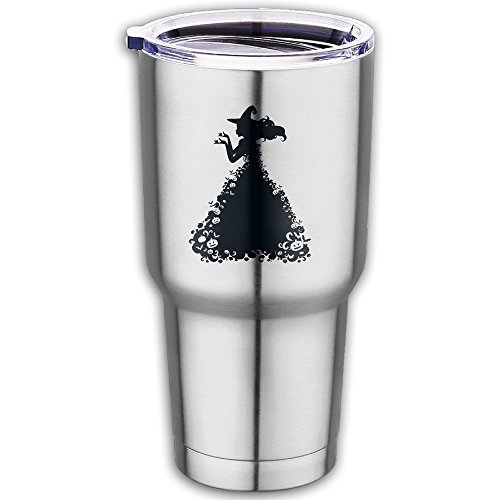 Pretty Witch Makeup (Stainless Steel Halloween Pretty Witch Travel Coffee Mug Cup-Fits Car Cup Holders And Keeps Your Beverage Hot Or Cold)