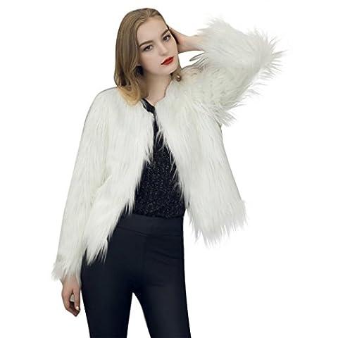 Womens Coat, Malltop Long Sleeve Solid Faux Fur Fox Winter Warm Parka Outwear