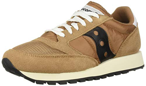 Saucony Originals Men's Jazz Original Sneaker, Brown/Black, 11 M US