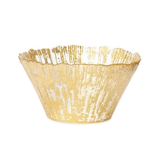 Bowl Ruffle Edge (VIETRI Rufolo Glass Gold Small Deep Bowl)