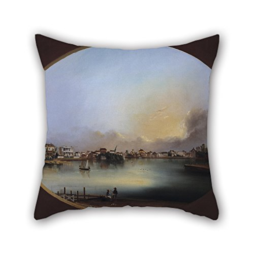 The Oil Painting Henry Joseph Jackson - View Of Charleston (View From The West) Pillow Shams Of ,18 X 18 Inches / 45 By 45 Cm Decoration,gift For Seat,father,kids Boys,teens Girls,boys,father (two Si