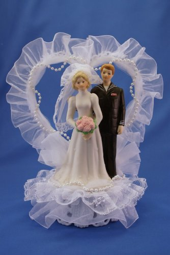 Military Wedding Cake Topper (Shown with Navy Figurine) (Force Cake Wedding Air)