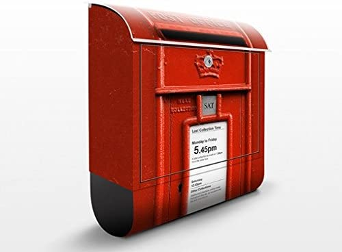 Buz/ón de pared acero inoxidable Correo Postal Cartas decorativo V13