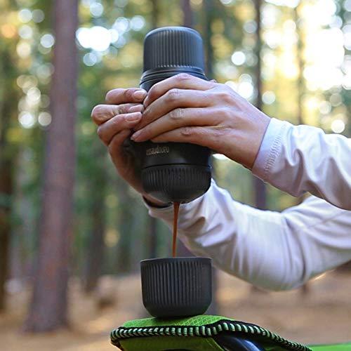 WACACO Nanopresso Portable Espresso Maker bundled with Nanopresso Protective Case, Upgrade Version of Minipresso, 18 Bar Pressure, Extra Small Travel Coffee Maker, Manually Operated