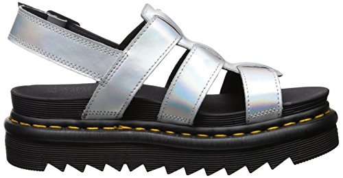 Dr. Martens Yelena Im Sandals Metallic Silver Lazer qIHbW