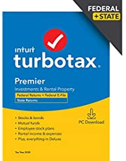 $69 » TurboTax Premier 2020 Desktop Tax Software, Federal and State Returns + Federal E-file [Amazon Exclusive] [PC Download]