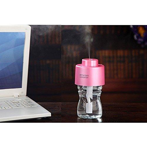 Acoustic Tek%C2%A1%C2%A7Portable Bottle Humidifier travel Pink