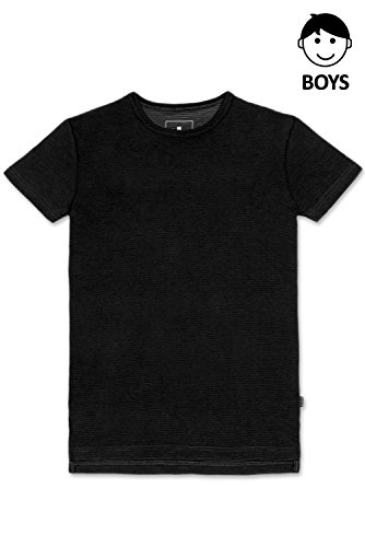 Boys Hipster Hip Hop Embossing High Low With Side Slit BLACK T-Shirt Small by JC DISTRO