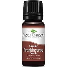 Organic Frankincense Serrata Essential Oil. 10 ml (1/3 oz). 100% Pure, Undiluted, Therapeutic Grade.