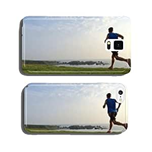 Runner on grassy cliff top trail with sea in background cell phone cover case iPhone6 Plus