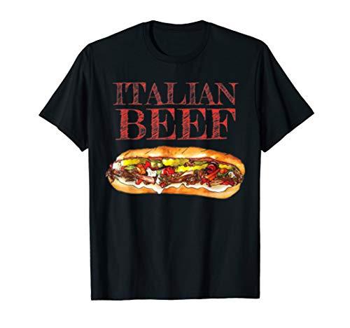 Italian Beef Sandwich Chicago Food Love Mens Gift T-Shirt