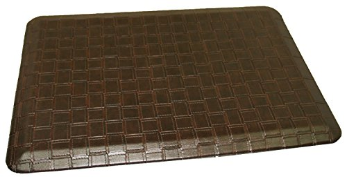 Rhino Mats CCP-2436-CAT-Mocha Comfort Craft Premium Catmandoo Houseware Anti-Fatigue Mat, 2' Width x 3' Length x 3/4