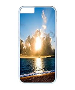 VUTTOO Iphone 6 Case, Sunset Beach Polycarbonate Plastic Case Back Cover for Apple iPhone 6 4.7 Inch PC White