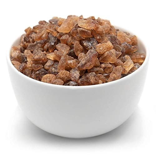Tea Forte Amber Rock Sugar for Tea, Pure Cane Sugar Crystals, 1 lb Bag