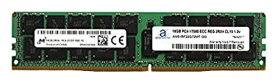 Micron Original 16GB (1x16GB) Server Memory Upgrade for Dell Poweredge, Dell Precision & HP Proliant Servers Processor DDR4 2133MHz PC4-17000 ECC Registered Chip 2Rx4 CL15 1.2V RAM