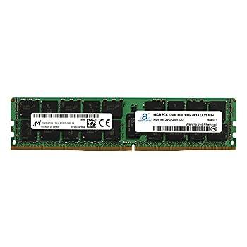 Image of Adamanta 16GB (1x16GB) Server Memory Upgrade Compatible for Dell Poweredge, Dell Precision & HP Proliant Servers Processor DDR4 2133MHz PC4-17000 ECC Registered Chip 2Rx4 CL15 1.2v RAM Memory