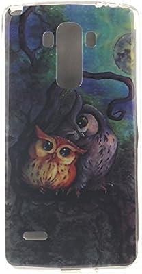 Guran® Silicona Funda Carcasa para LG G4 Stylus LS770 / LG G Stylo Smartphone Case Bumper Shock TPU Cover-Pintura al óleo búho
