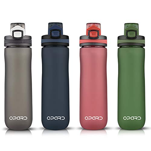 Opard Sports Water Bottle, 20 Oz BPA Free Non-Toxic Tritan Plastic Water Bottle with Leak Proof Flip Top Lid for Gym Yoga Fitness Camping (Green)
