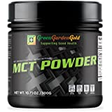 MCT Oil Powder Ketogenic Supplement from Green Garden Gold to Increase Ketones, Get Into Ketosis Faster, and Lose Weight (10 oz) Dairy-Free, Lactose-Free, Gluten-Free, Vegan, Keto Diet Supplement