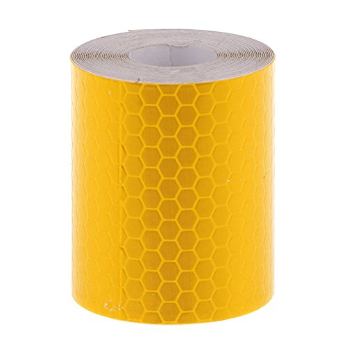 FENICAL Adhesive Reflective Tape Sticker Safety Tape Conspicuity Tape 3M (Golden Yellow)