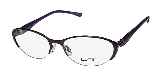 ad92b718c2 Lightec 7037l Womens Ladies Designer Half-rim Flexible Hinges Eyeglasses Spectacles  (51