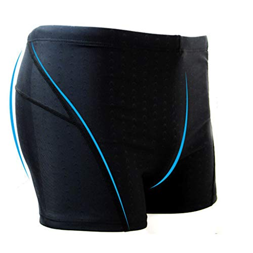 WUAI-Men Swim Trunks Quick Dry Summer Beach Shorts Athletic Swimwear Boxer Briefs Boardshorts