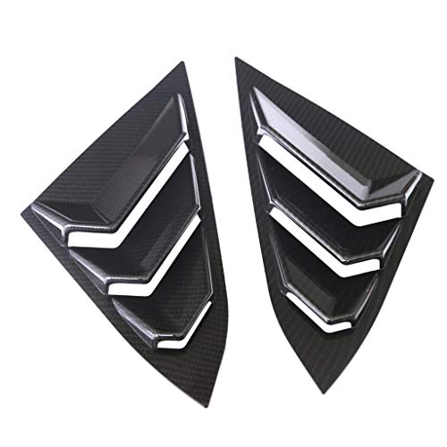 Homyl 2x Car ABS Plastic Rear Window Side Tuyere Louvers for Honda Civic Self-adhesive – Black 2