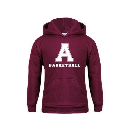 Alma College Youth Maroon Fleece Hoodie Basketball