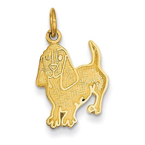 Charm chien-JewelryWeb 14 carats