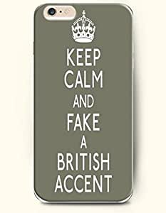 iPhone Case, SevenArc iPhone 6 (4.7) Hard Case **NEW** Case with the Design of keep calm and fake a british accent...