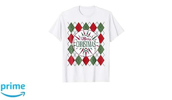 Amazon.com: Argyle Shirt Merry Xmas Christmas Party Clothing Gifts: Clothing