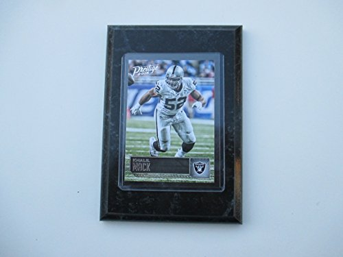 Khalil Mack Oakland Raiders Prestige 2016 player card mounted on a 4