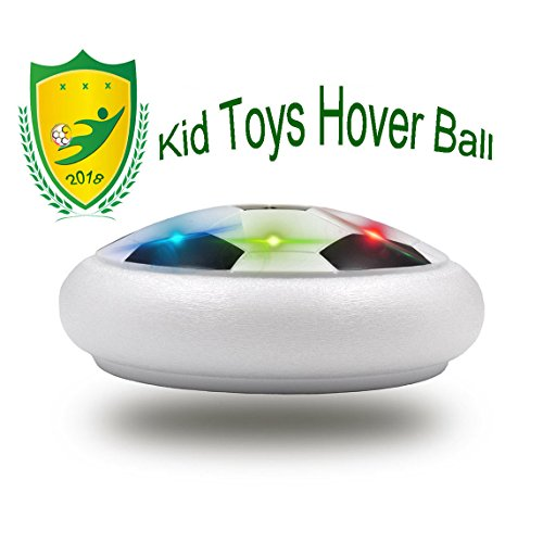 (Happy Gift Kids Toys Soccer Floating Football with Colorful LED Light for 4-8 Years Old Indoor Outdoor Play(Style1 White))