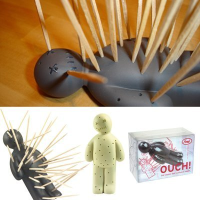 Fred and Friends Ouch Toothpick Holder, Gray